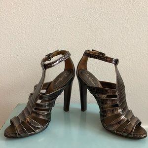Cole Haan Dark Bronze Metallic Sandals